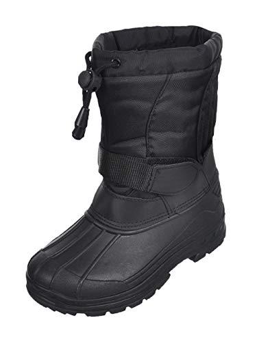 SkaDoo Boys Snow Goer Boots - Black, 1 M US Little Kid