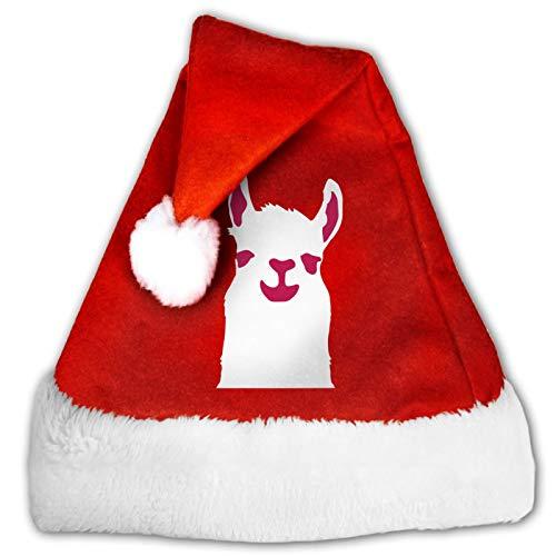 I Rented This Hooker Sombrero de Papá Noel, cómodo gorro de terciopelo rojo y blanco para fiesta de Navidad