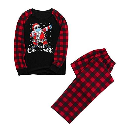 2020 Christmas Family Quarantine Souvenir Letter Printed Plaid Pajamas Xmas PJ's Winter Sleepwear for Kids & Adult