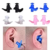 Noise Cancelling Ear Plugs for Sleeping Reusable Safe Silicone Earplugs Hearing Protection Motorcycles Shooting Working Swim Concert Earplugs 2 Pairs