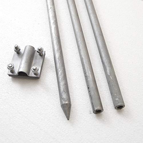 Komplett Tiefenerder Staberder Erdung Erder Blitzableiter 3 m Ø 20 mm verzinkt