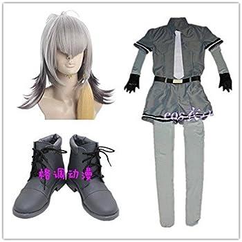 コスプレ衣装+インナー+手袋+靴 + ウィッグ けものフレンズ ハシビロコウ 風 セット