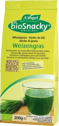 A.Vogel Weizengras bioSnacky (Keimsaat) - 1er Pack (1 x 200g) - BIO