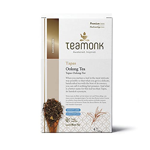Teamonk Darjeeling Oolong , Loose Leaf, Tapas Oolong Tea for Weight care (100g)
