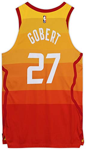 Rudy Gobert Utah Jazz Game-Used #27 Orange City Edition Jersey vs. Portland Trail Blazers on February 7, 2020 - Size 54+4-16 pts. 14 rebs. - NBA Game Used Jerseys
