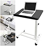 ZXYY Table Above The Bed Adjustable in Height and Angle Non-Reclining Bed Table with Wheels Adjustable Portable Desk for Laptop Laptop Stand Flexible Table 600X400x (590-860) MM a