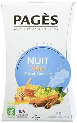 PAGÈS Infusion Nuit Miel Tilleul Cannelle Bio 20 Sachets 30 g parent