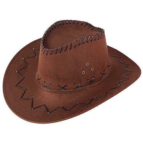 Takkar-chapeau Chapeaux De Parasol De Prairie en Cuir en Similicuir De Cowboy De Voyage en Plein Air D'été
