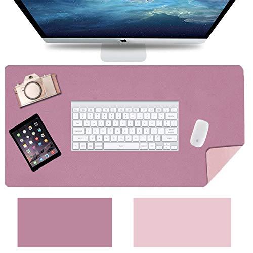 Anmete Alfombrilla de mesa impermeable de piel sintética, 90 × 45 × 0,2 cm, doble cara, para oficina, portátil, PC