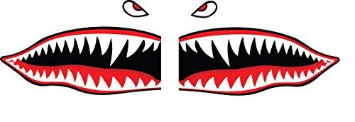 Flying Tigers Shark Teeth Decals Stickers Multiple Sizes! (6')