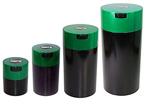 Tightpac America Nested Set of 4 Vacuum Sealed Dry Goods Storage Containers, 4 Sizes, 24-Ounce, 12-Ounce, 6-Ounce, 3…