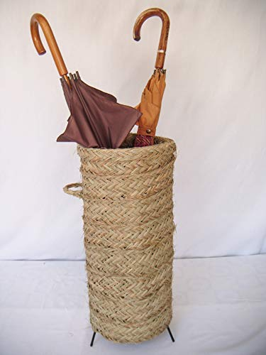 Sillas y Mesas Peña Paragüero Artesanal Hecho con Esparto y armazón de forja. Medidas: 27cm diámetro / 52cm Altura.