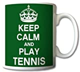 Keep Calm And Play Tennis Mug Cup Gift Retro by GreatDeals4you