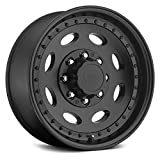 Vision 81 Hauler Single Matte Black Wheel with Painted Finish (19.5 x 7.5 inches /8 x 165 mm, 0 mm Offset)