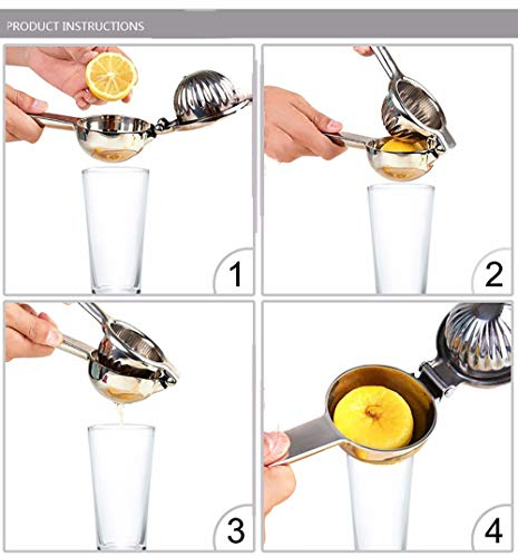 Manual Lemon Squeezer, Manual Citrus Press Juicer Large Stainless Steel Lemon Juicer Manual Juicer with Premium Quality… |