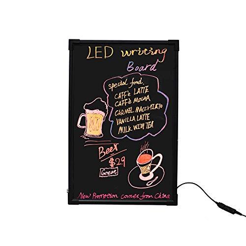 HO-TBO Bacheche messaggi e insegne Superficie LED Drawing Board cancellabile Vetro Non poroso for Lavagna Lavagna Bulletin Board Menu Banco di Mostra attività (Color : Black, Size : 40x60cm)