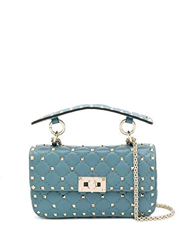 Luxury Fashion | Valentino Garavani Dames TW2B0123NAP16U Blauw Leer Handtassen | Lente-zomer 20