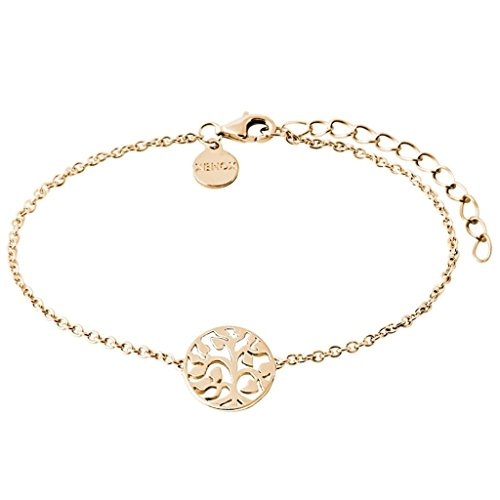 XENOX XS2897G Damen Armband Lebensbaum Symbolic Power Sterling-Silber 925 Gold 20 cm