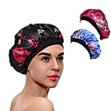 3 Packs Soft Satin Sleeping Cap Salon Bonnet Night Hat Hair Loss Chemo Caps for Women