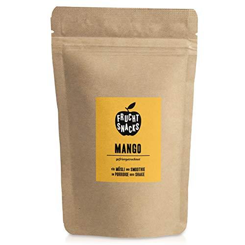 Mango gefriergetrocknet 100g I Getrocknete Mango Chips ohne Zucker I 100% Frucht, voller Geschmack