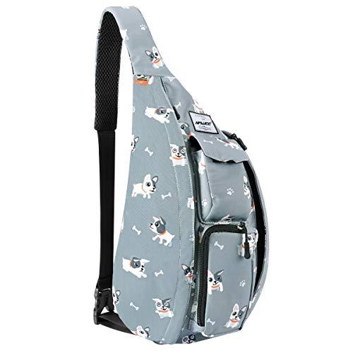 HAWEE Reise Brusttasche Sling Umhangetasche Rucksack Crossbody Schultertasche Daypack Casual für Männer Frauen Teenager Arbeit Reise Studie Outdoor Klettern Wandern Laufen