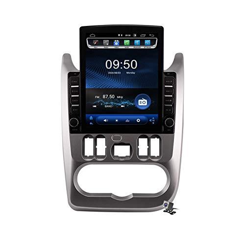 Estéreo para coche Android 9.0, compatible con radio Logan Renault Sandero Duster 2009-2013 Navegación GPS Unidad principal de pantalla vertical de 9,7 pulgadas Reproductor multimedia MP5 Video con 4