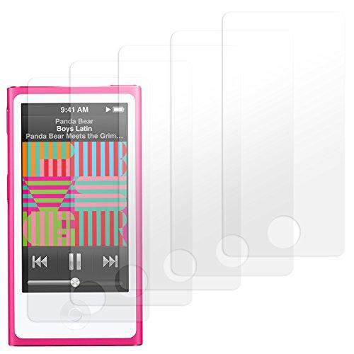 moodie Displayschutzfolie für iPod Nano 7G [5 Stück] Premium Folien Kristallklar mit Anleitung für Apple iPod Nano 7G