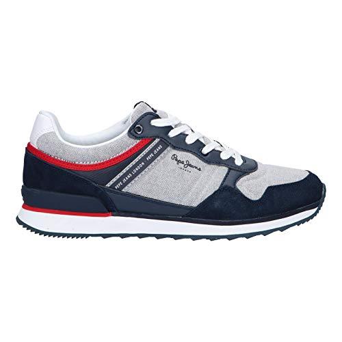 Pepe Jeans Cross 4 PMS 30606 Marino Zapatillas para Hombre, 42