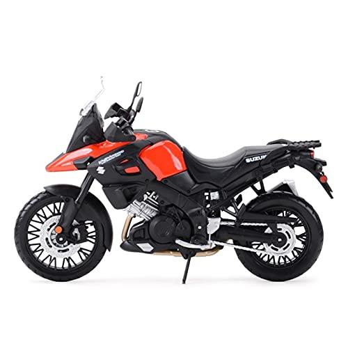 El Maquetas Coche Motocross Fantastico para Suzuki V-Strom 1:12 Motoring Motorcycle Static Motory Collection Gift Memorial Toy Car Regalos Juegos Mas Vendidos