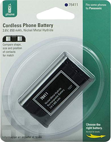 Power Gear Rechargeable Cordless Phone Battery, 3.6V, 850mAh Battery Pack, Nickel Metal Hydride, Cordless Phone Handset Compatible, 76411