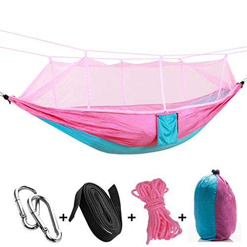 JIEIIFAFH Outdoor Adult Hammock Parachute Cloth Light Portable Travel Mesh Child Hammock Camping Aerial Tent Hanging Chair Toy (Color : H)