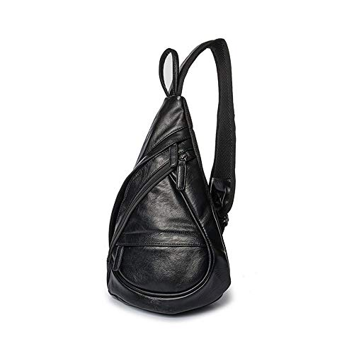 Boss Bag Heren Grote capaciteit Fietsen Sporttas Tas Diagonal Borstzak Fitness Bag Schoudertas Portemonneehouder (Kleur: Zwart, Maat : L)