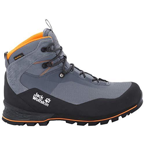 Jack Wolfskin Herren Wilderness LITE Texapore MID M Trekking-& Wanderstiefel, Grau (Pebble Grey/Black 6507), 46 EU