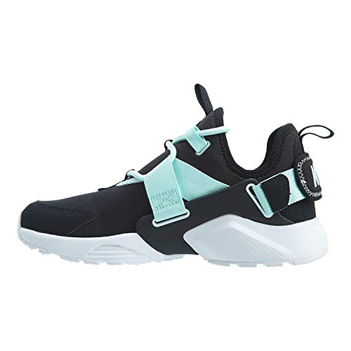 Nike Womens Air Huarache City Fabric Hight, Black/Black-Igloo-White, Size 7.5