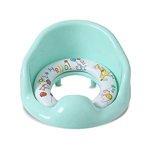 HLWAWA Toilettes for enfants Siège de toilettes hommes et femmes Siège lave-glace universelle for enfants Potty Siège de toilette Échelle couverture (couleur: vert, Taille: (30cm * 37cm) (19.5cm * 14.