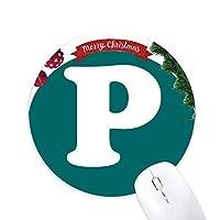 ボツワナ通貨記号 クリスマスツリーの滑り止めゴム形のマウスパッド
