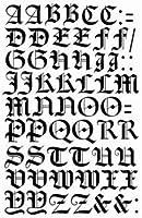 タトゥーシール専門店-TATTOOL- が作った文字シリーズ。アルファベット#4