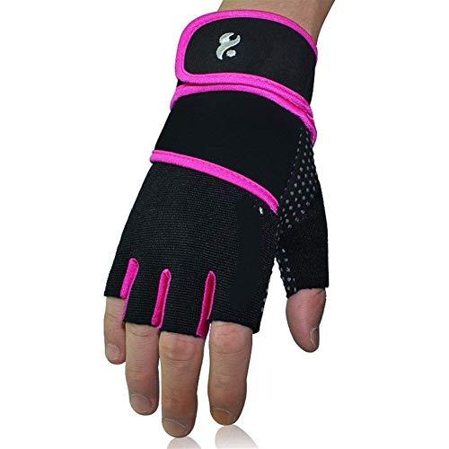 YANODA Gants Fitness Gym Femmes Culturisme Entraînement Poignet Wrap Gants De Sport for Barre Horizontale Formation Haltère Barbell Protect Hands (Color : Black Purple, Size : S)