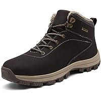 UBFEN Botas de Senderismo para Hombre Mujer Botas de Nieve Invierno Impermeable Calzado Zapatos de Ocio al Aire Libre y Deportes Zapatillas Antideslizantes cálido Confortables 43 EU A/Marrón