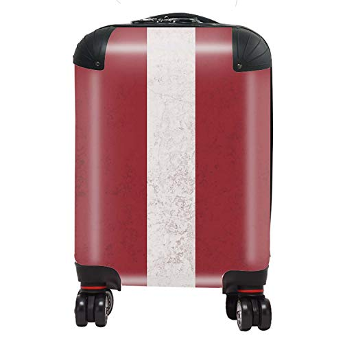 Letland/Letse vlag Kid's Cabin Carry-On koffer met TSA Lock 4 Spinner Wheels Bagage Bag 46cm 29Ltr / Noord-Europese vlaggen