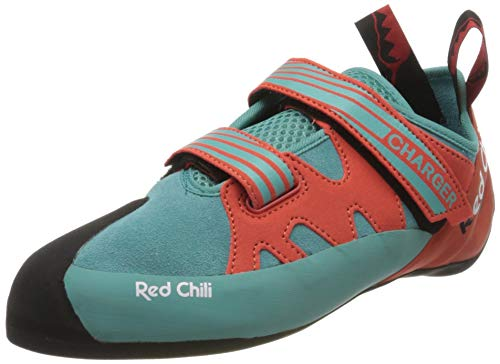 Red Chili Men 350610453810 Kletterschuhe, Turquoise-Orange (381), UK 4.5