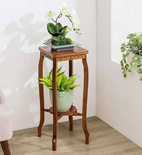 Q&Z ÉTagèRe à Plantes,2/3 Niveaux Support De Pot De Fleurs ÉTagèRe De Fleur Bambou Simple DéCoration De Maison