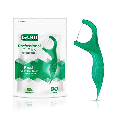 GUM Professional Clean Flossers Extra Strong Flosser Pick