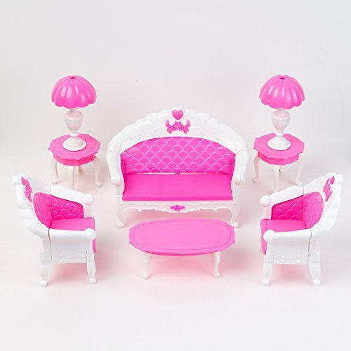 Yiding Mini Dollhouse Furniture Living Room Set Table and Chair for Barbie Dolls by Yiding