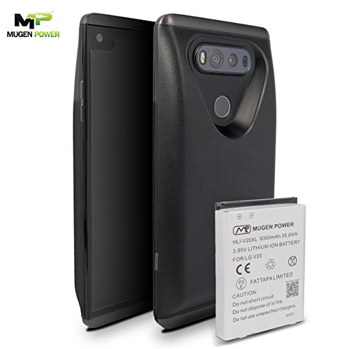 LG V20 9300mAh Triple Juice Extended Battery | NFC & Android Pay Supported | Enhance RF Signal | Titan | MugenPower | AT&T, T-Mobile, Verizon, Sprint, or US Cellular | 12 Months Factory Warranty
