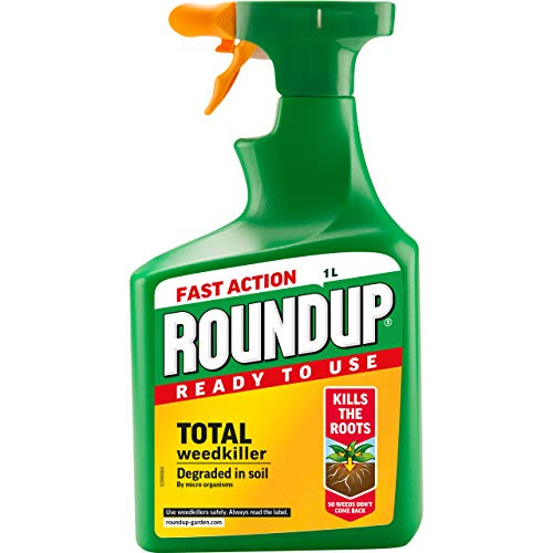 Roundup 17829 Fast Action Weed Killer, Clear, 1 L