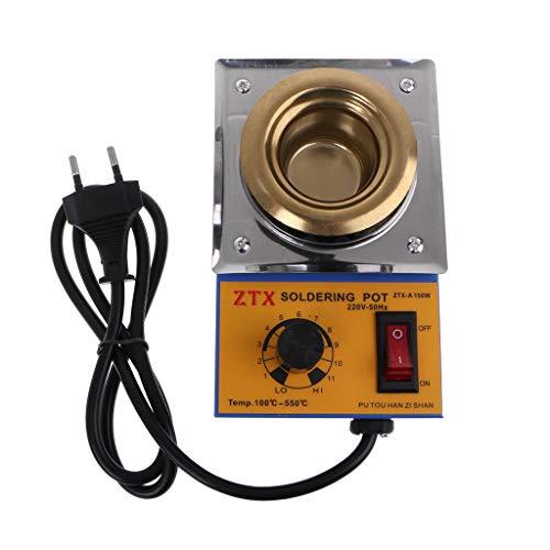 ShowkingL - Horno de chapa a a temperatura ajustable, sin plomo, 150 W, con enchufe de la UE