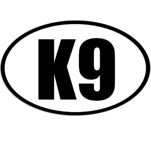 Oval K9 Sticker (Dog Canine German Shepherd Police k-9 Train)