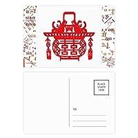 中国の赤いランタンの蓮 公式ポストカードセットサンクスカード郵送側20個