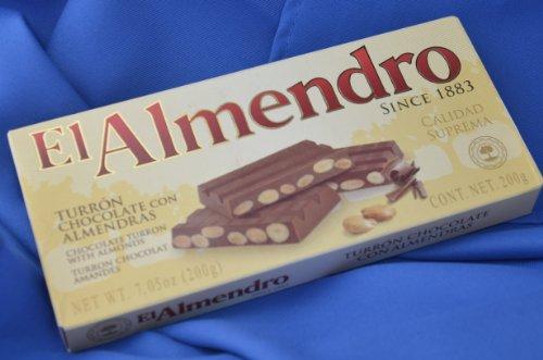El Almendro Chocolate and Almond Turron 7oz (200 G)